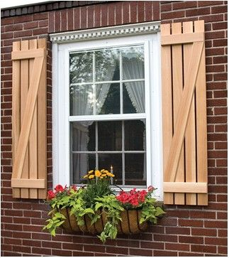 9 Best Images About Benefits Of Buying Exterior Wood Shutters On Pinterest