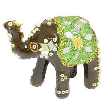 Amazon.com: Interior Decoration Elephant Statue Colorful from India: Home & Kitchen