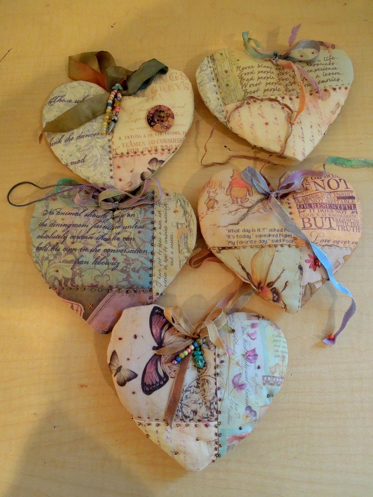 Quilted Lavender Heart Sachets