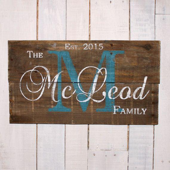 Family Name Sign, Established Sign, Pallet Last Name Wood Sign, Rustic Family Established Sign, Personalized Wedding Gift, Anniversary Gift