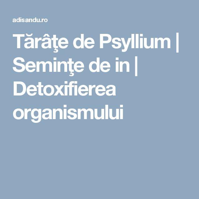 Tărâţe de Psyllium | Seminţe de in | Detoxifierea organismului
