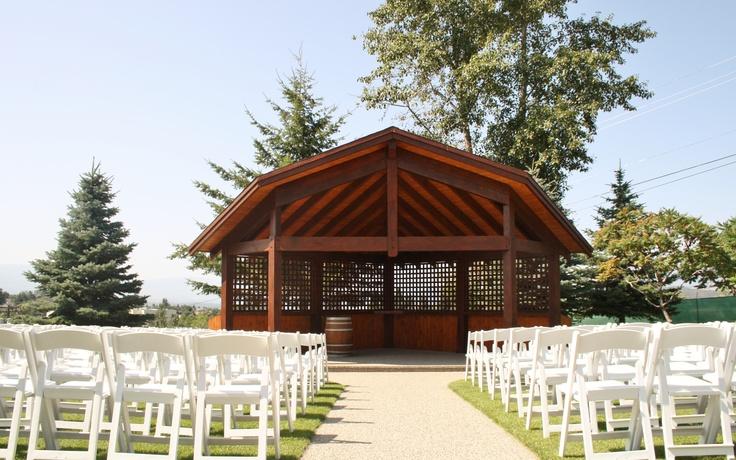 Our stunning outdoor #kelowna #wedding gazebo at Sunset Ranch #golf
