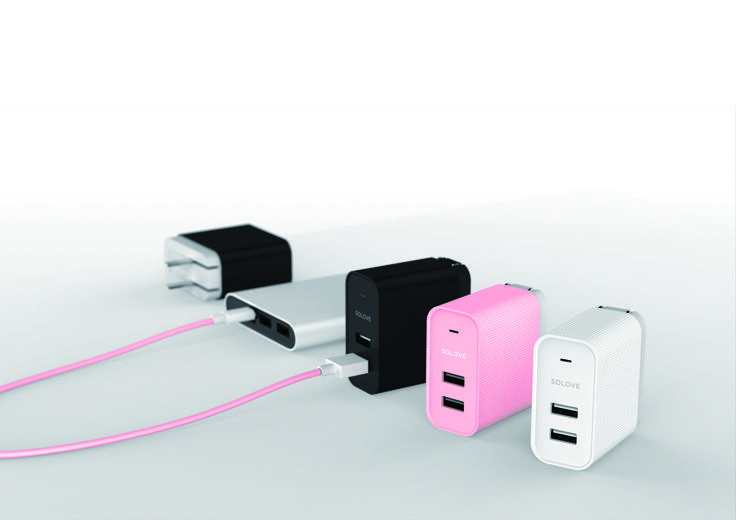 2U charger with 2.4A *2 output from SOLOVE, come on at Michael.lee@solove.com.hk
