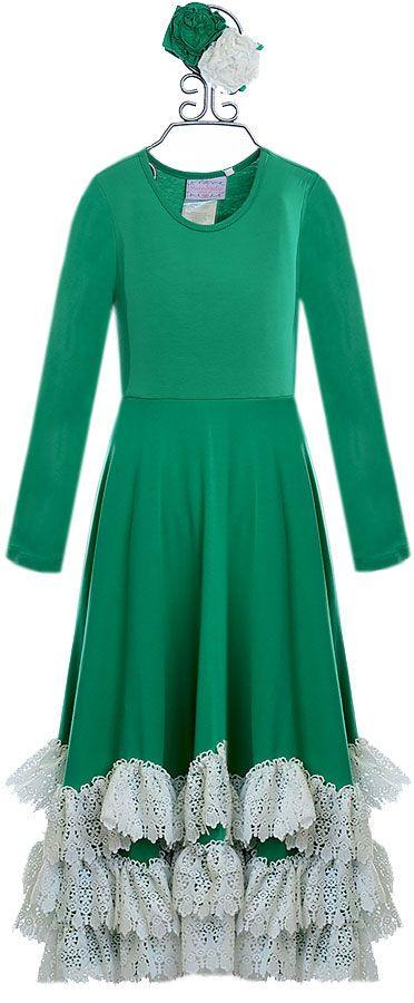 Serendipity Mistletoe Maxi Dress for Girls