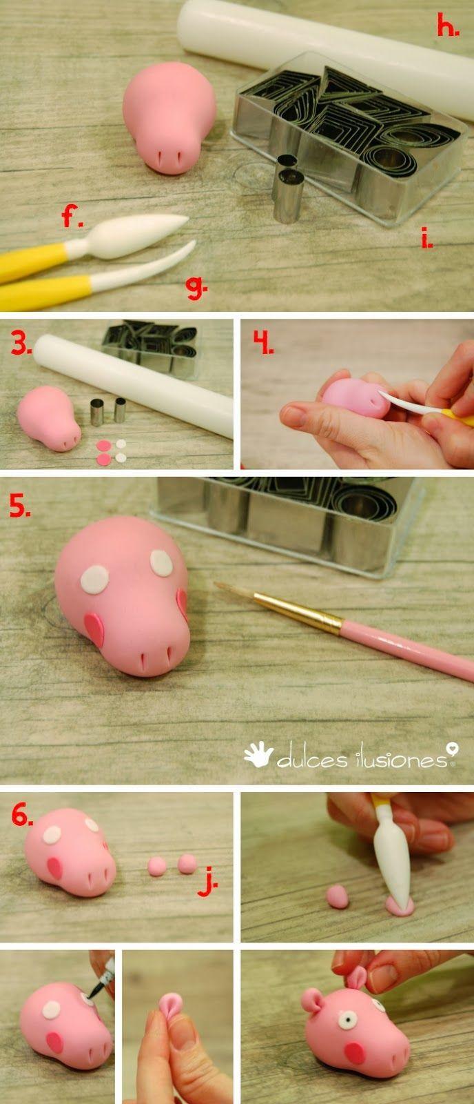 Como hacer una Peppa Pig- Paso a paso