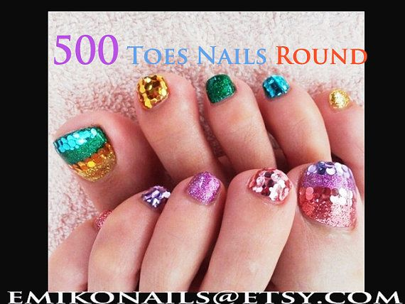 500 Blank NailsToe NailsRound Nail False NailsNails by emikonails