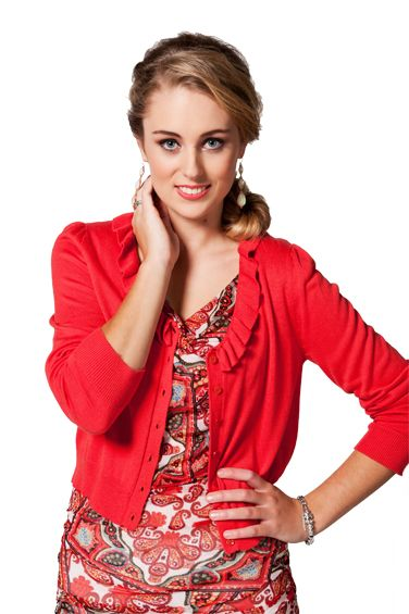 5: CARDI or COVER-UP: Vue Ruffle Cardi $139 www.sassys.co.nz