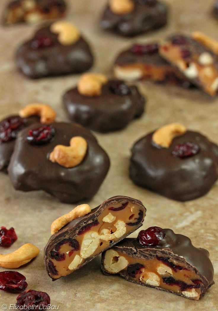 "Cranberry Cashew Caramel Patties - aka ""Bog Frogs."" The perfect candy for fall & Thanksgiving! 