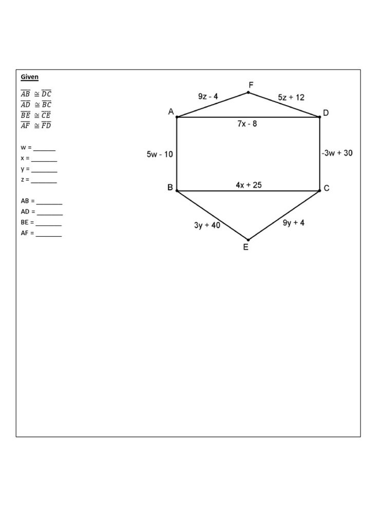 Geometry Algebra Problems