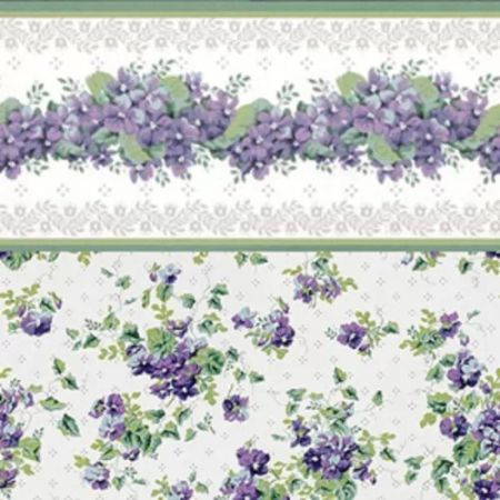 "Dollhouse Wallpaper ""Sweet Violets Purple Floral"""