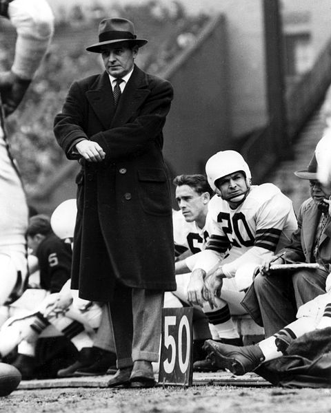 Paul Brown, organizer and coach of the Cleveland Browns and the founder of the Cincinnati Bengals. HOF Class of 1967.