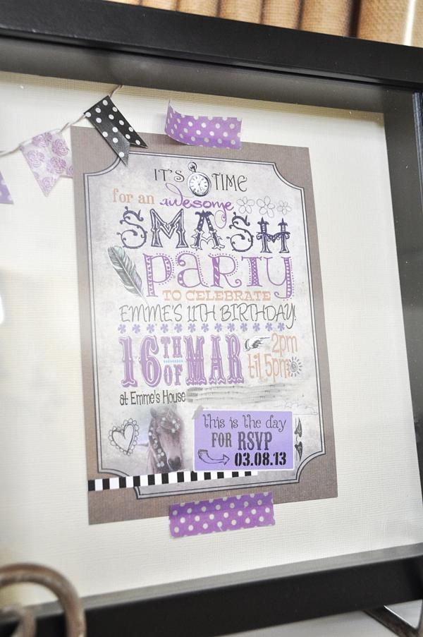 great idea for a Smash book party ... designed for a 11 year old's birthday party but this would also be great for girlfriends to do one afternoon at the cottage