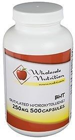 BHT (Butylated Hydroxytoluene) 250mg, 500 capsules - For Sale Check more at http://shipperscentral.com/wp/product/bht-butylated-hydroxytoluene-250mg-500-capsules-for-sale/