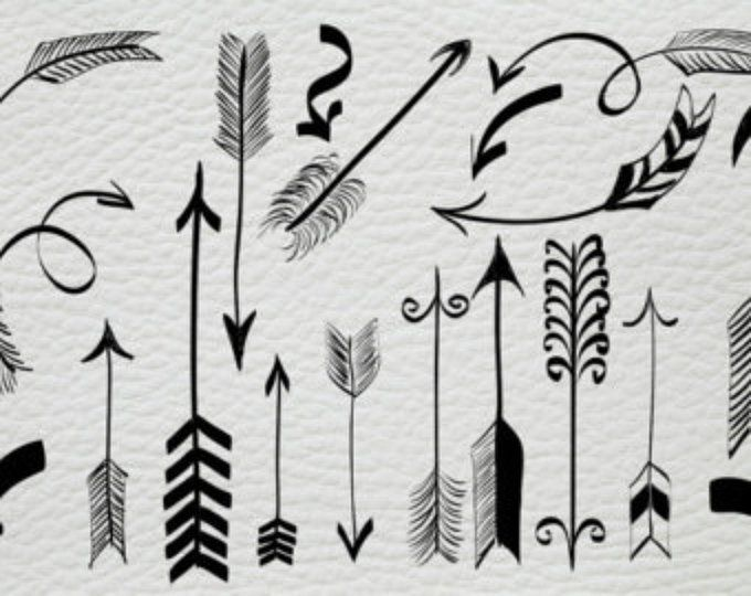 Arrows Clipart Hand Drawn Clip Art Tribal Arrows Instant Download Png Graphic Arrow Wedding Invitation Greeting Card Diy Elements How To Draw Hands Drawing Clipart Hand Drawn Arrows