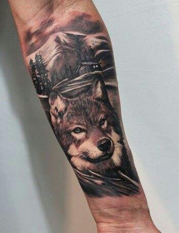 Wolf tattoo