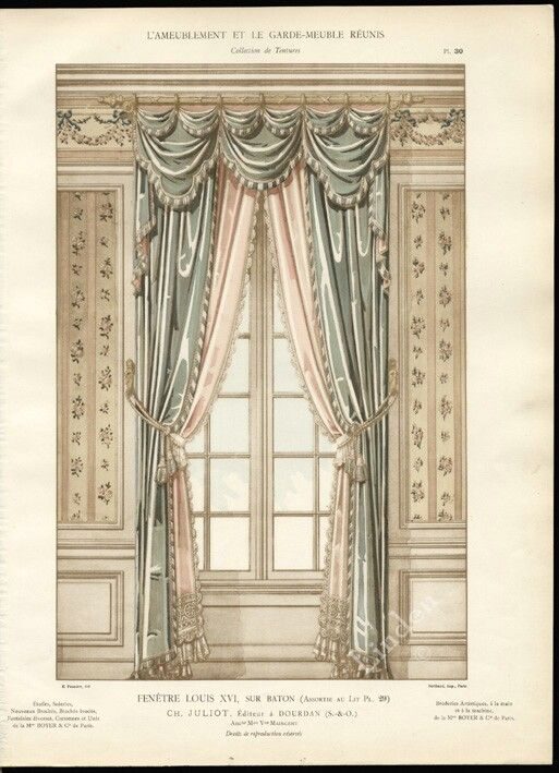 Pelmet Dressing The Top Of The Curtain Fenetre Louis