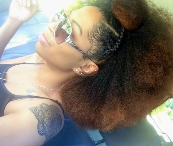 Natural hair blowout on fleek!