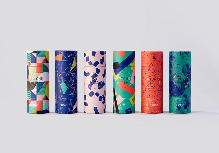 Niche Tea by I Want Design. #branding #packaging #tea