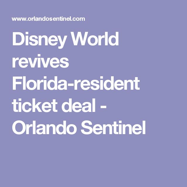 Deals in orlando for florida residents
