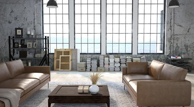 Industrialny salon dla wszystkich artystycznych dusz. #aranżacja #salon #loft
