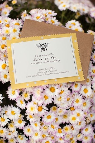 Spa-themed Bridal Shower invite