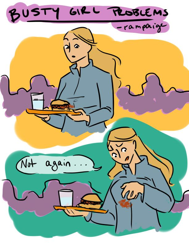busty girl problems.Laugh, Comics Book, Girls Generation, Girls Problems, Funny Stuff, Food Trays, Girl Problems, True Stories, Busty Girls