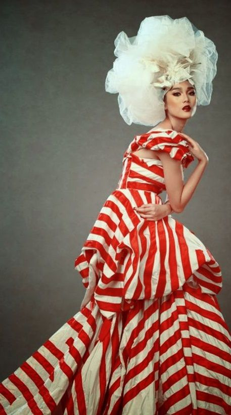 Prominent Interior Designer Bebe Winkler In A Staykova Custom Made Haute Couture Gown