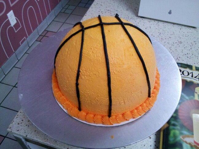 Basketball Cake The Cakes I Make At Baskin Robbins
