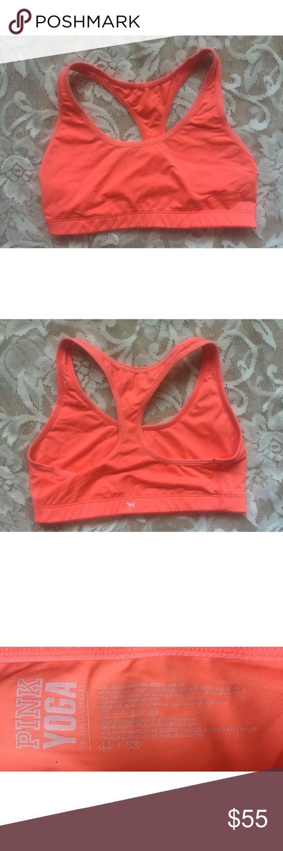 Victoria's Secret PINK Orange Sports Bra Condition: No defects. Size: xS PINK Victoria's Secret Intimates & Sleepwear