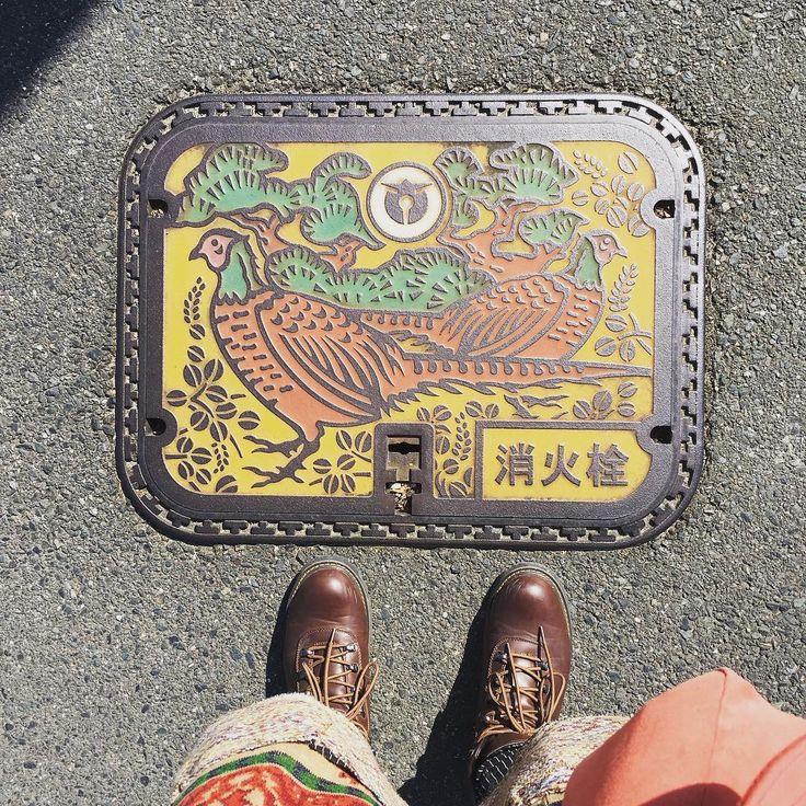 高萩市の消火栓蓋 a cover of a fire hydrant in Takahagi city, Ibaraki