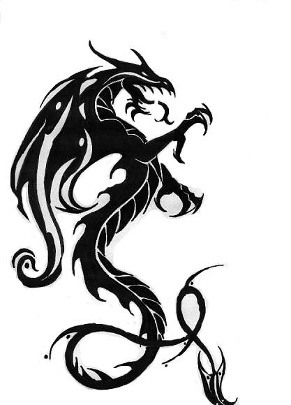 Tribal Tattoos: Black Dragon Tattoos Designs - Tribal Tattoos - Zimbio - ClipArt Best - ClipArt Best