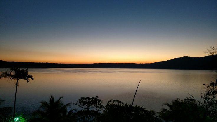 Sun rise, Laguna de Apoyo Catarina, Masaya, Nicaragua