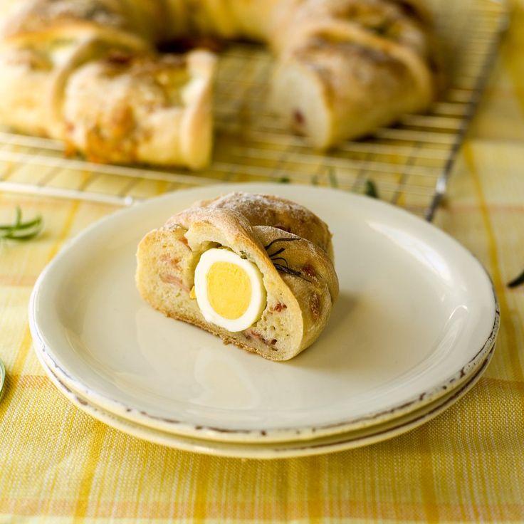 Tortano – innbakt brød med egg, ost og skinke