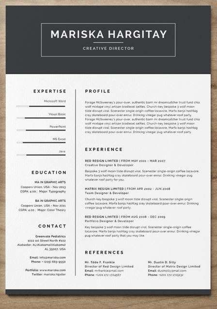 Modern Resume   resume   Resume template free, Free resume examples ...
