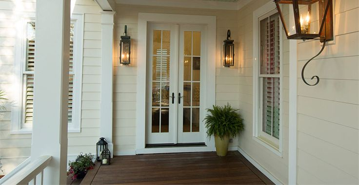 Love light color with white trim- floor could be color of undercarriage in carport. (Beaded t & g)