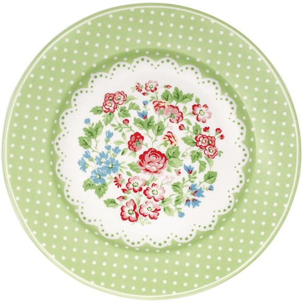 GreenGate Stoneware Plate Ivy Green | Originated-Shop