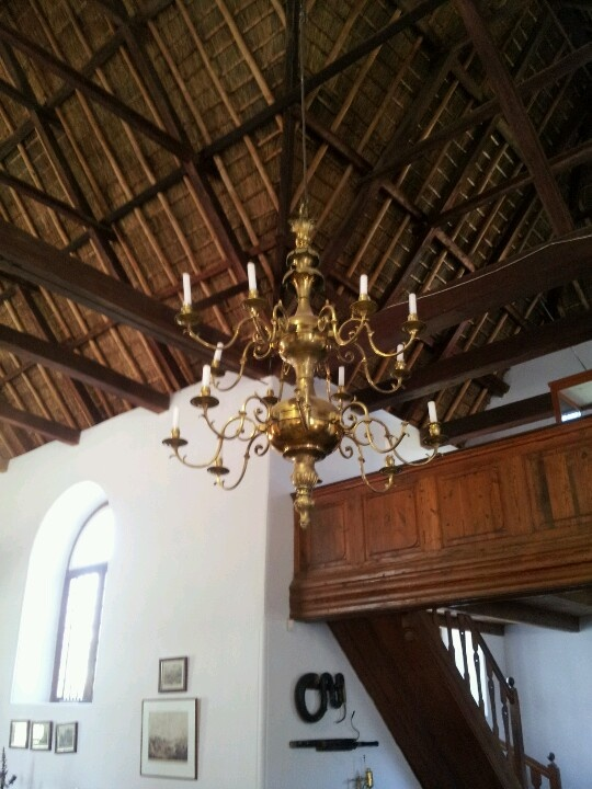 Chandelier in old Tulbagh church. Western Cape, South Africa