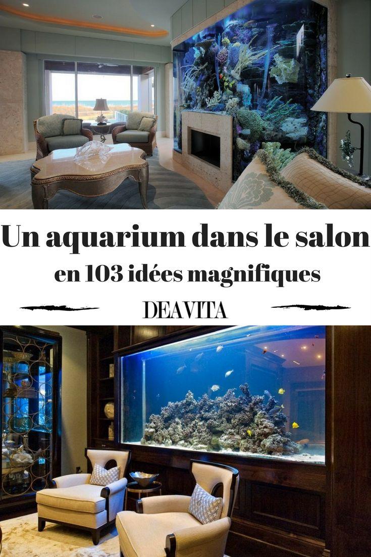 Pour donner à votre salon une touche personnelle, optez pour installer un aquarium. Il sera un bijou magnifique dans le décor de chaque maison ou appartement. Nous avons sélectionné 103 belles idées pour intégrer un aquarium dans le salon qui vous aideront à choisir le parfait design pour votre domicile. Lassiez-vous inspirer par les photos magnifiques dans notre galerie.