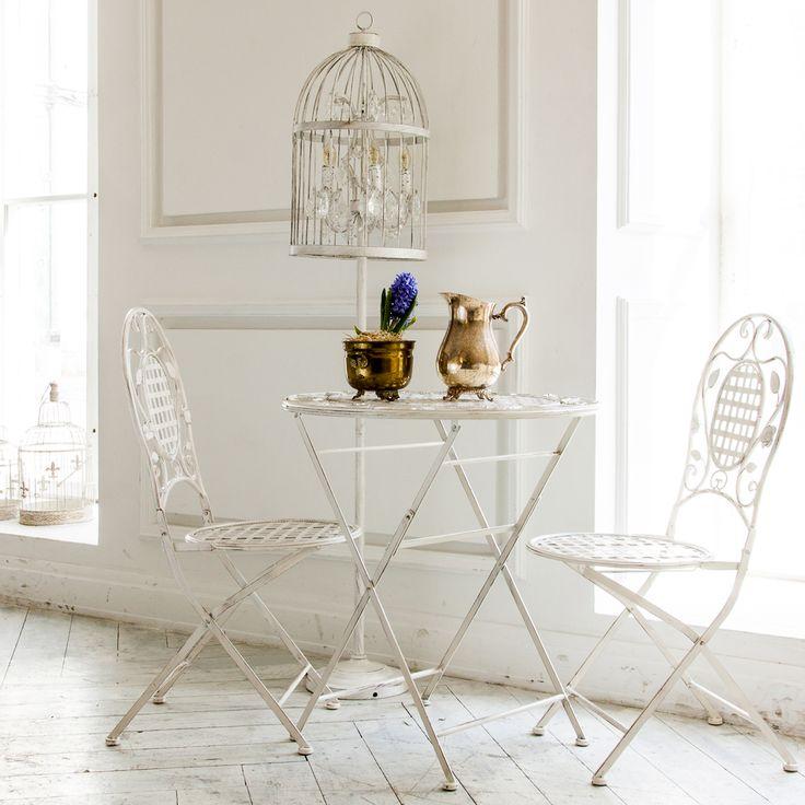 "Складной #стул ""Живерни"", #торшер ""Тюильри"" (белый антик), складной #стол ""Живерни"". #светильник, #мебель, #интерьер, #декор, #furniture, #objectmechty, #interior"