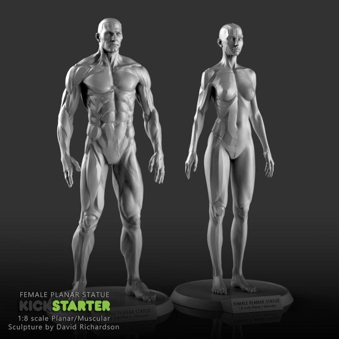 The Female Planar Statue by David Richardson — Kickstarter