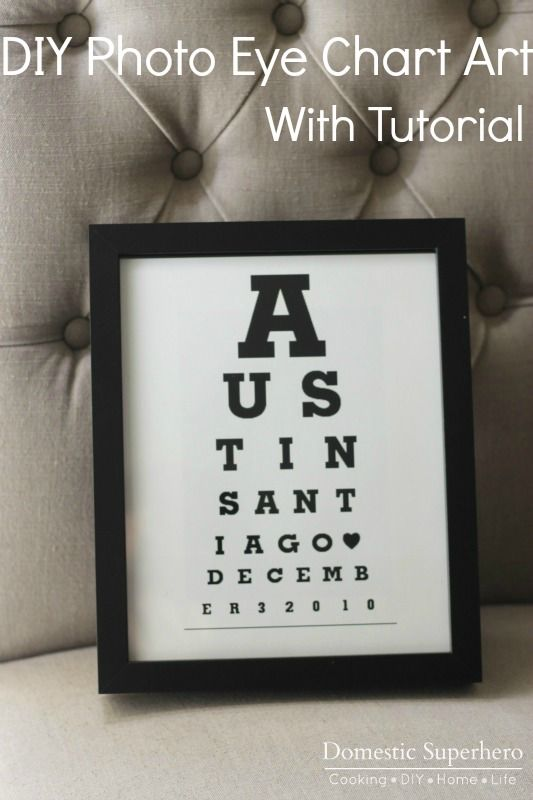 Downloadable DIY Bathroom Eye Chart