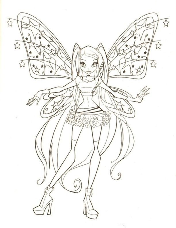 Winx 1 Coloring Pages Fairy Coloring Pages Fairy