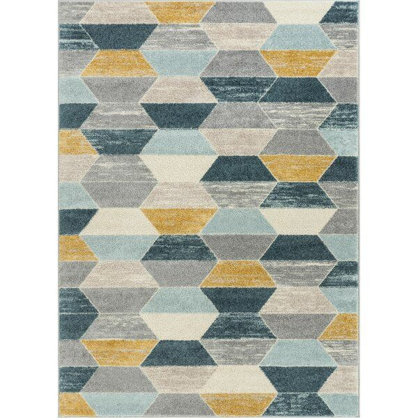 This Mystic Blue Grey Yellow Rug Is An Exciting Array Of Trendy