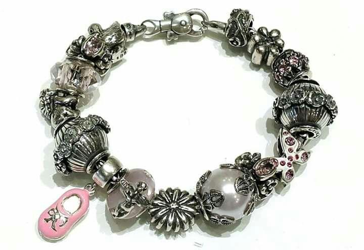 Bracciale componibile Tedora in argento 925 e vetro di murano Facebook : Pianeta beads www.gold-jewels-italy.com