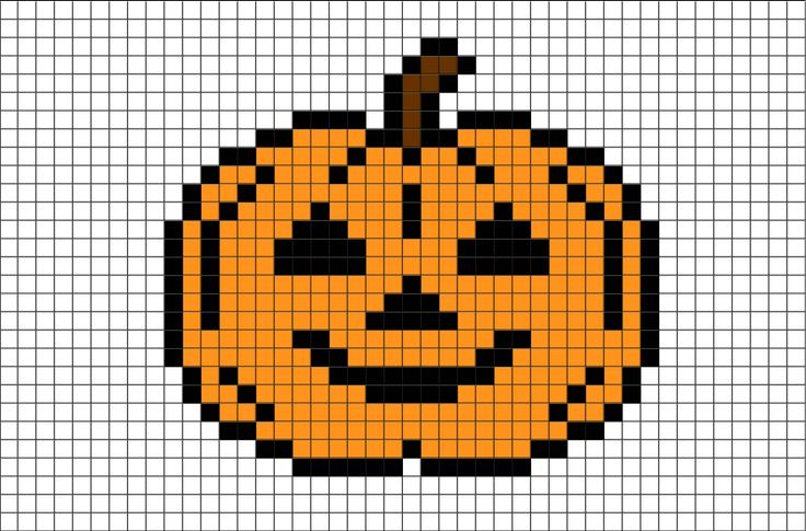 Halloween Pumpkin Pixel Art from BrikBook.com #jack-o'-lantern #halloween #pumpkin #lantern #candle #pixel #pixelart #8bit Shop more designs at http://www.brikbook.com