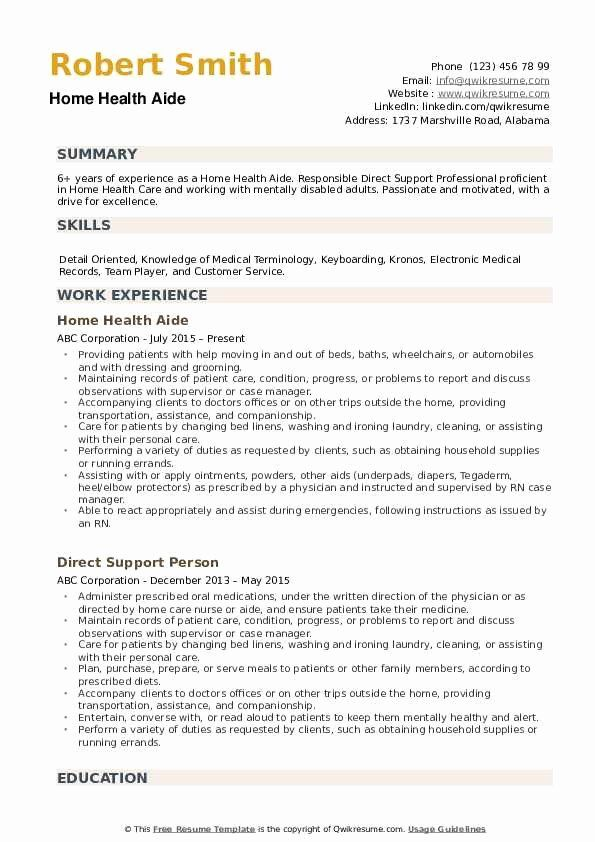 Home Health Aide Resume Samples Inspirational Home Health Aide Resume Samples Home Health Aide Home Health Home Health Care