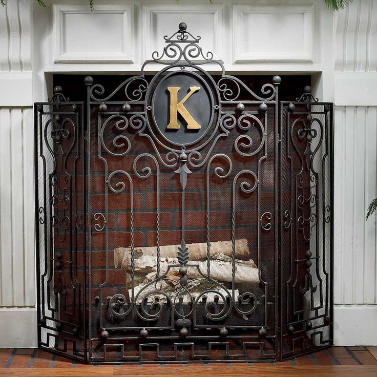 Fireplace Design fireplace grills : 81 best Fireplace ironwork images on Pinterest