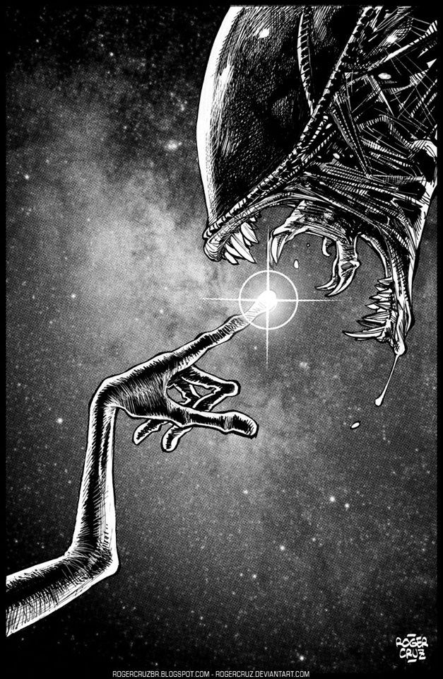 E.T. and Alien by Roger Cruz *