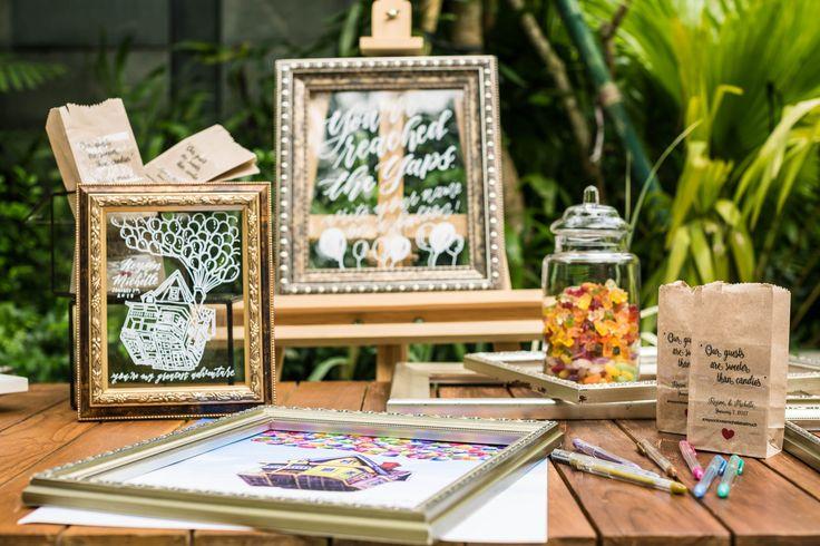 Tropical Destination Wedding Registration Table
