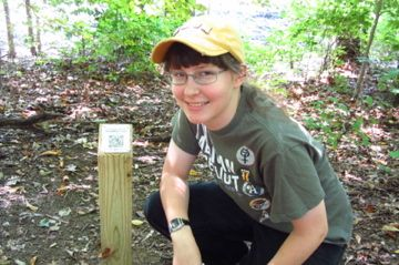Melissa Moody, Gold Awardee marked a trail using QR codes.